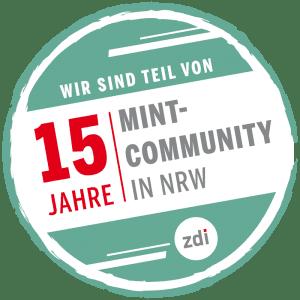 Wir sind Teil von 15 Jahre MINT-Community in NRW - zdi